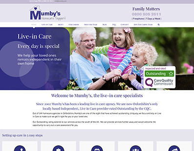New Mumby's Website