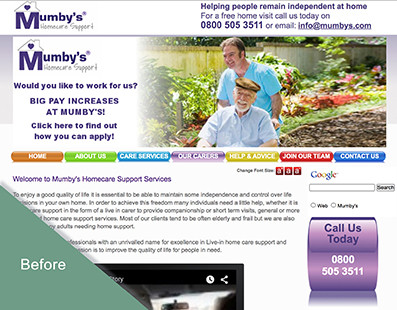 Old Mumby's website