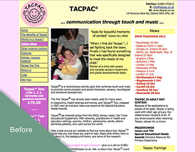 Old Tacpac Website
