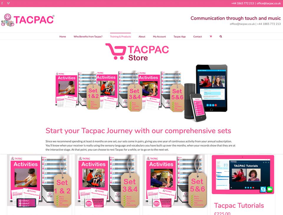 Tacpac ecommerce shop, membership and community