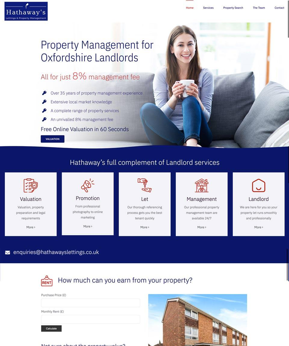Hathaways Website Designed by Oxfordshire Web Services