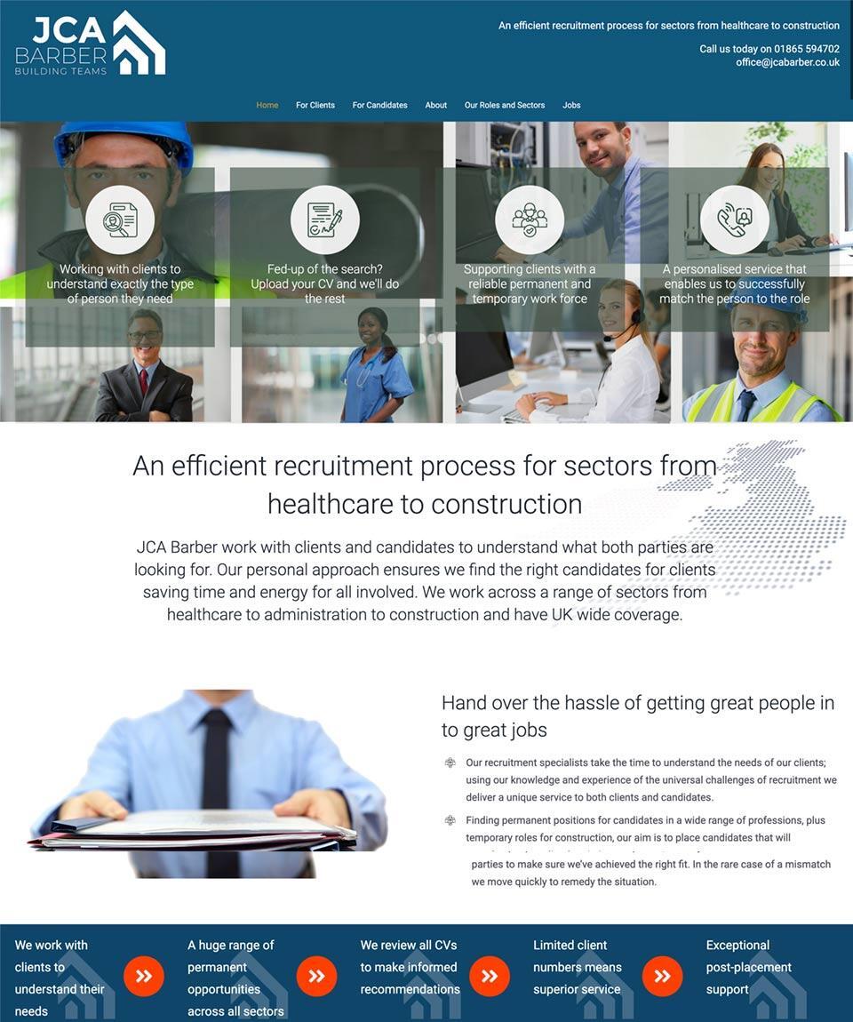 JCA Barber Website Designed by Oxfordshire Web Services