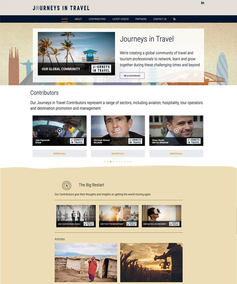 Journeys in Travel Website Designed by Oxfordshire Web Services