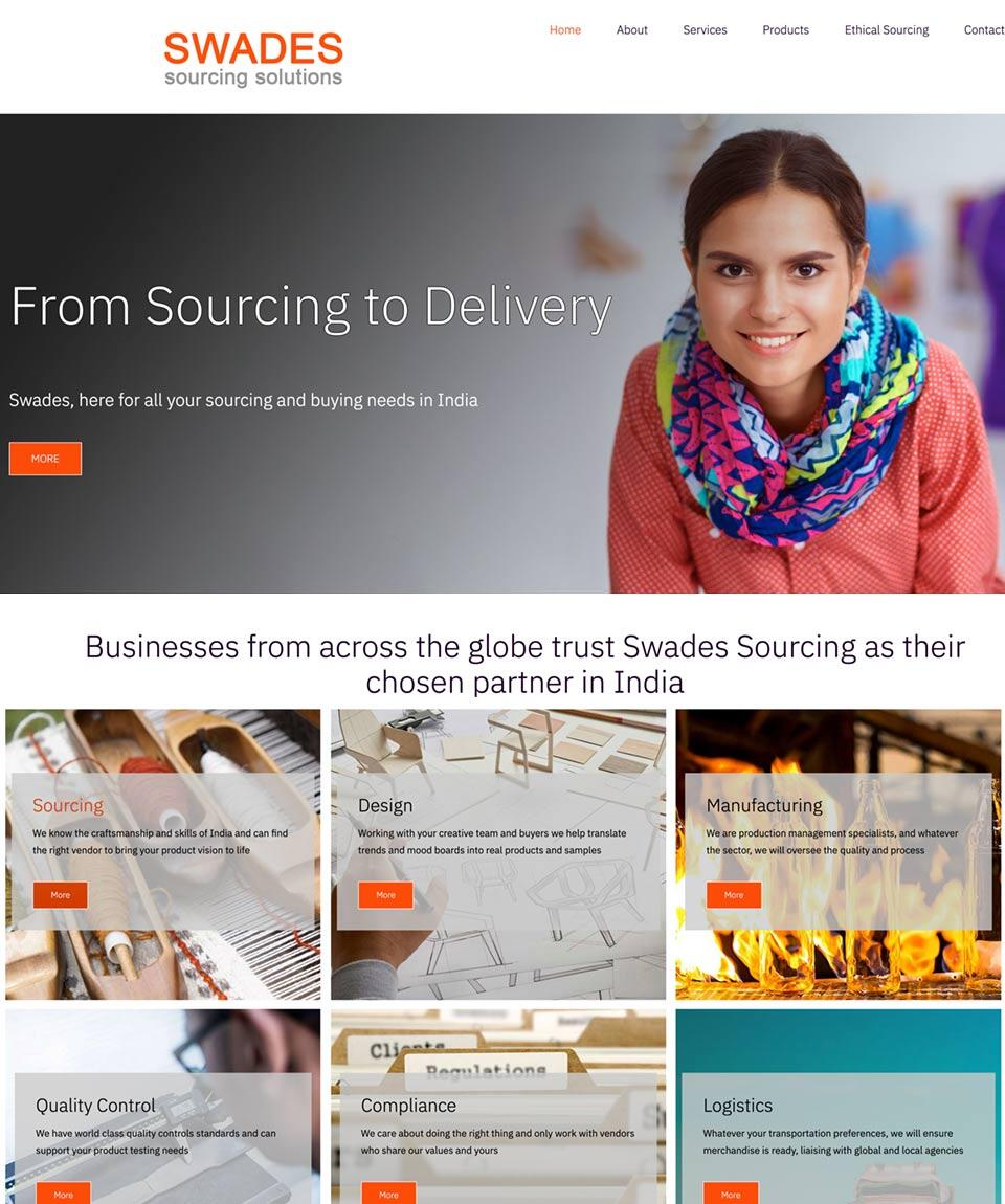 SWADES Sourcing Website Designed by Oxfordshire Web Services