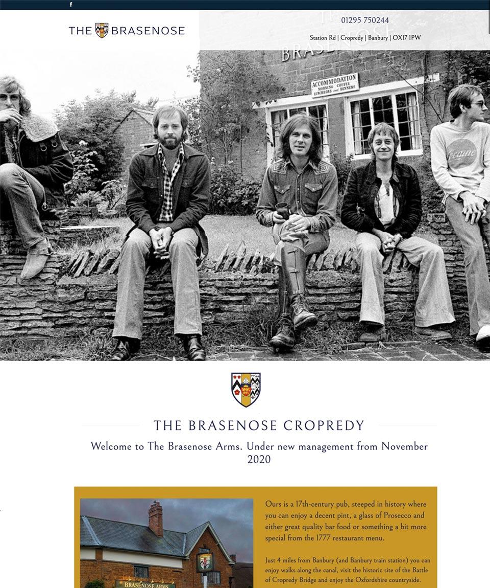 Brasenose Website Designed by Oxfordshire Web Services
